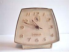 Vintage Apollo Mark II Wind Up Aalarm Clock Retro 60's Lt Yellow Cream Bedside