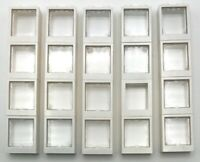 Lego 20 New White Windows 1 x 2 x 2 Flat Front Town City Trans-clear Glass Parts