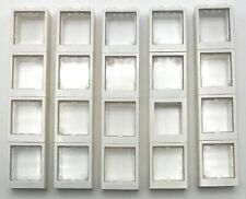 10 NEW LEGO Glass for Window 1 x 2 x 2 Flat Front Trans Clear