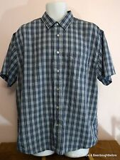 American Eagle Outfitters Shirt Mens Size L Short Sleeve Button Up Multi Blue