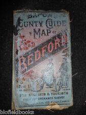 Bacon's County Mappa di Bedford per ciclisti e turisti-c1890-mappa vittoriana