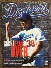 ERIC GAGNE Autographed 2004 Dodgers Magazine  w/COA