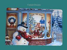 4x Platzset Schneemann Nostalgie Geschenke  Tischset  Advent Weihnachten
