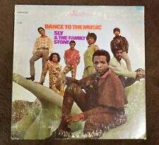 """Vintage 1968 Sly & the Family Stone """"Dance to the Music"""" LP - EPIC Records, EX+"""