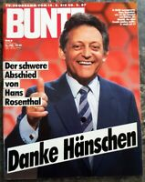 Hans Rosenthal BUNTE 8 / 1987 Hänschen Dalli Dalli Fernsehen Moderator Tod Heft