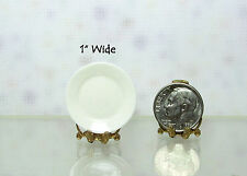 "Dollhouse Miniature Quality Porcelain 1"" Wide Plate"