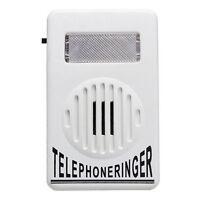 Amplifier Strobe Light Flasher Bell Extra-Loud Telephone Ringer Phone Ringer w/