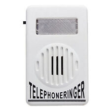 Telephone Phone Amplifier Strobe Flasher Light Bell Extra-Loud 95dB Ringer Sound