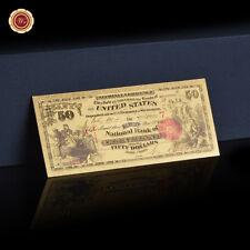 WR 1875 US $ 50 Dollars Coloré Meilleur billet de banque pour les collectionneur