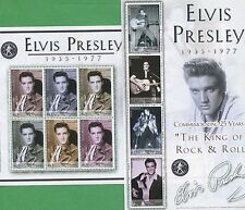 Elvis Presley King of Rock & Roll Souvenir Stamp Sheets #1386-87 Bhutan E3-4
