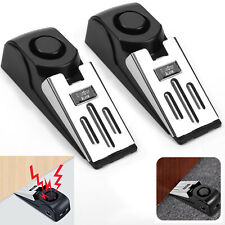 2Pcs Door Stop Alarm Home Travel Wireless Security Alert Portable Kits Hotel