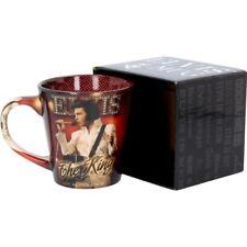 Elvis Presley Le Roi en Céramique Café Thé Tasse 12 oz (environ 340.19 g) Boîte Cadeau Fan