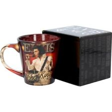 ELVIS PRESLEY THE KING CERAMIC Coffee Tea MUG CUP 12oz Gift Box Fan
