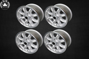4x Alloy Rim Minilite Style 7x15 Et 20 for Volvo 100 200 700 900