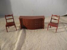 Vintage Marx Plastic Doll House Furniture Brown Dining Room