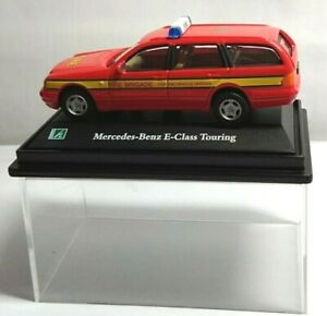 HONGWELL - 1:72 DIECAST - MERCEDES-BENZ E-CLASS TOURING - FIRE BRIGADE - RED