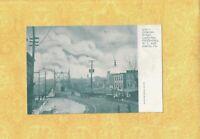 PA Easton 1901-08 udb antique postcard SHOPS & BRIDGE CONNECTING NJ AND PA