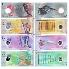 Maldives 5 + 10 + 20 + 50 Rufiyaa 2015-17 Polymer Set of 4 Banknotes 4 PCS UNC