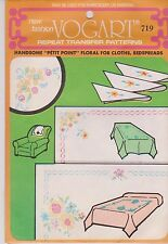 Vintage Vogart Hot Iron On Embroidery Transfer Pattern 719 Bedspread Clothes