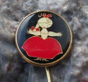 Vintage Rumcajs Wife Manka Czech Cartoon Character Vecernicek Pin Badge
