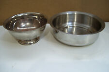 """1 Prestige Stainless Steel Bowl 6"""" Across & 1 Silverplate Bowl 4 3/4"""" Across 2"""
