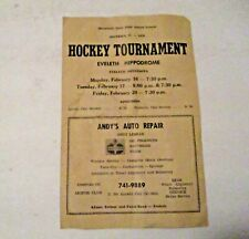 RARE VINTAGE 1970 EVELETH MINNESOTA HOCKEY TOURNAMENT SPORTS PROGRAM LOCAL NAMES