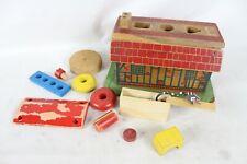 Vintage Holgate Wooden Farm Jack's House 915 Toy w/ Blocks Antique Rare Old Lot