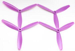 DALPROP T6040 Tri Blade Purple Propeller [4pcs] : FPV Drone