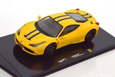 1:43 Hot Wheels Elite Ferrari 458 Speciale Coupe 2013 yellow/black