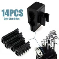 14x Golf Bag Organizer Club Putter Clip Holder Set for All Wedge Iron Driver US