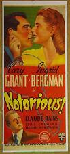 NOTORIOUS MOVIE POSTER Australian Daybill OnLinen 1946 CARY GRANT INGRID BERGMAN