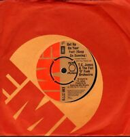"""TC JAMES AND THE FIST O FUNK ORCHESTRA get up on your feet 7"""" CS EX/VG+ disco"""