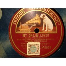 JEANETTE MACDONALD march of the grenadiers/my dream lover 78T Gramophone VG+