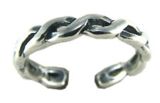 Modern Twist Braid Toe Ring Sterling Silver 925 Best Deal Jewelry USA Seller