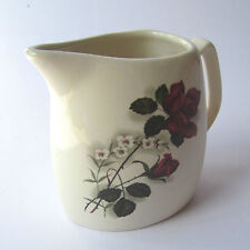 "West Highland Pottery Co. JUG Red Rose Design Dunoon Argyll 4.5"" high. Scottish"