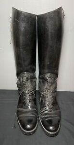 Vintage Dehner's Omaha ? 9 9.5 ? Black Leather Patrol Motorcycle Riding Boots