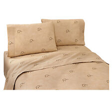 Ducks Unlimited King Sheet Set (Plaid) Duckhead Logo Geese Unisex Rustic Country