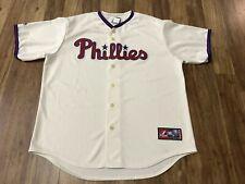 MENS XL - Vtg MLB Philadelphia Phillies Majestic Sewn Baseball Jersey Made USA