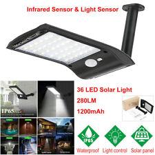 New listing Outdoor 36 Led Solar Power Wall Street Pir Motion Sensor Garden Yard Light Lamp