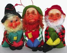 3 Vintage Knee Hugger Dwarf Hobo Gnome Elf Elves TKR Jestia Japan Doll Ornament
