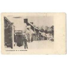 More details for longformacus in a snowstorm, berwickshire postcard postmark duns 1903