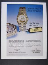 1984 Girard-Perregaux Equation Soleil watch photo vintage print Ad