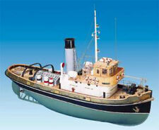 "Brand new, RC Ready wooden model ship kit by Mantua: the ""Anteo"" Tug Boat (743)"