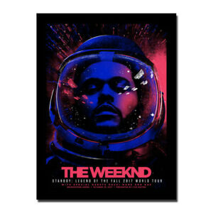 The Weeknd New Singer Songwriter Canvas Silk Poster 13x18 24x32 inch