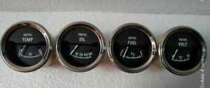 Smiths Replica Electrical Gauges Kit Temp Oil Pressure  Fuel Volt Gauge  52 mm