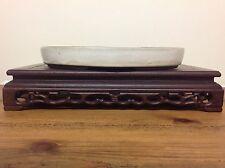 White Glazed Oval Bonsai Pot (31x21x4cm)