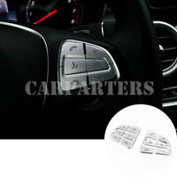 For Benz A-Class W176 Interior Steering Wheel Button Trim Cover 12pcs 2016-2018