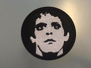 """LOU REED Patch - Embroidered Iron On Patch 3 """""""