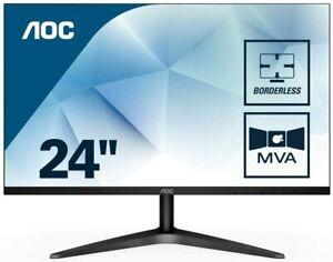 """AOC 24B1H 24"""" LCD Monitor, Black  Gaming Monitor"""