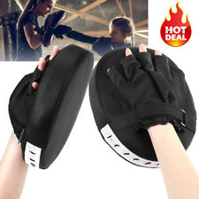 2 Boxing Gloves Leather Muay Thai Training Punching Bag Sparring Mma Kick Karate